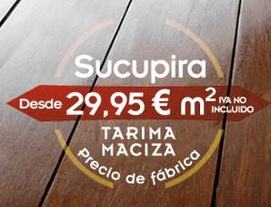 Oferta de tarima maciza de madera de Sucupira a precio de fábrica: 29,95