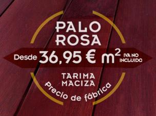 Palo rosa, una madera exotica tropical a precio de fábrica: 36,95 € m2