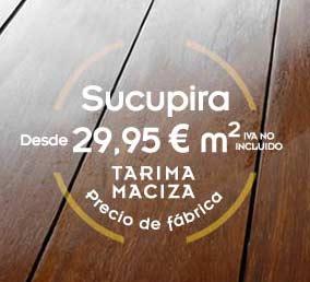 Tarima maciza de sucupira a precio de fábrica: 29,95 € m2