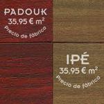 Comparativa entre tarima maciza de ipé y padouk