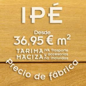 Mecanizado y secado de la tarima de ipe