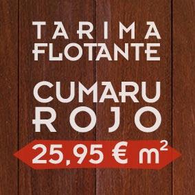 Oferta de tarima flotante de madera maciza de cumaru rojo
