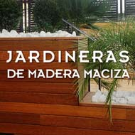 Su jardinera con tarima maciza resistente en la intemperie