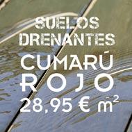 El Cumarú Rojo es uno de los mayores éxitos para suelos drenates, también muy resistente al tráfico pesado